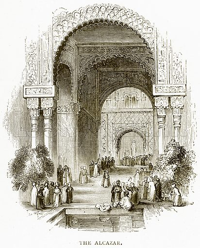 The Alcazar. Illustration from Spanish Pictures (Religious Tract Society, c 1875).