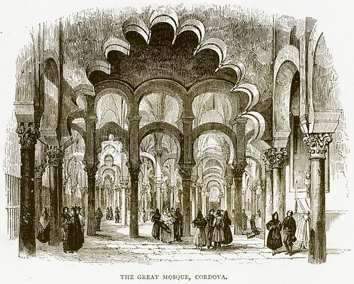 The Great Mosque, Cordova. Illustration from Spanish Pictures (Religious Tract Society, c 1875).