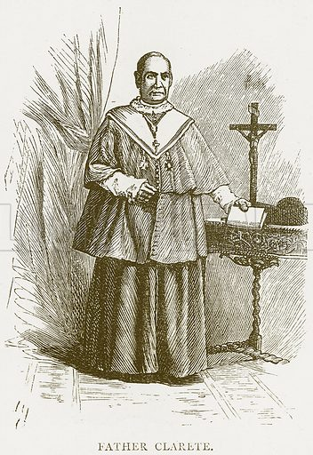 Father Clarete. Illustration from Spanish Pictures (Religious Tract Society, c 1875).