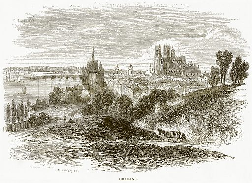 Orleans. Illustration from Spanish Pictures (Religious Tract Society, c 1875).