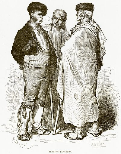 Spanish Peasants. Illustration from Spanish Pictures (Religious Tract Society, c 1875).