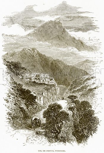 Col de Pertus, Pyrenees. Illustration from Spanish Pictures (Religious Tract Society, c 1875).