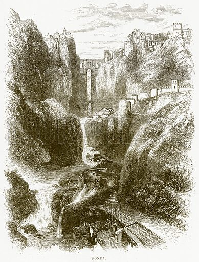 Ronda. Illustration from Spanish Pictures (Religious Tract Society, c 1875).