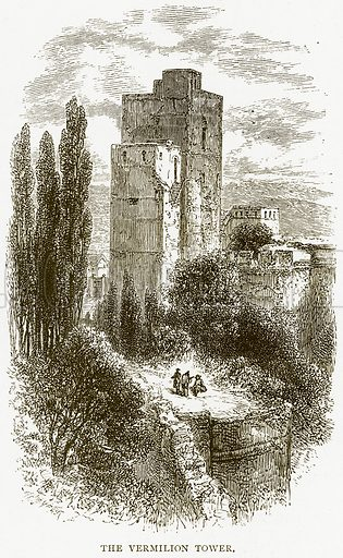 The Vermilion Tower. Illustration from Spanish Pictures (Religious Tract Society, c 1875).