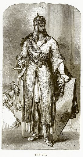 The Cid. Illustration from Spanish Pictures (Religious Tract Society, c 1875).