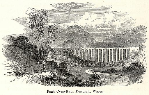 Pont Cyssyltau, Denbigh, Wales. Illustration for The World As It Is by George Chisholm (Blackie, 1885).