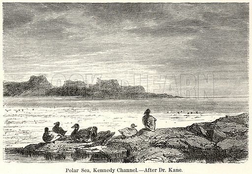 Polar Sea, Kennedy Channel.--After Dr. Kane. Illustration for The World As It Is by George Chisholm (Blackie, 1885).