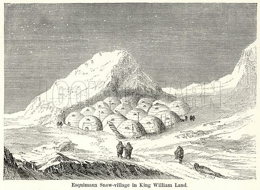 Esquimaux Snow-Village in King William Land. Illustration for The World As It Is by George Chisholm (Blackie, 1885).