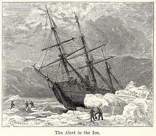 The Alert in the Ice. Illustration for The World As It Is by George Chisholm (Blackie, 1885).