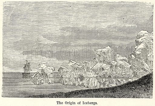 The Origin of Icebergs. Illustration for The World As It Is by George Chisholm (Blackie, 1885).
