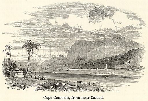 Cape Comorin, from near Calcad. Illustration for The World As It Is by George Chisholm (Blackie, 1885).
