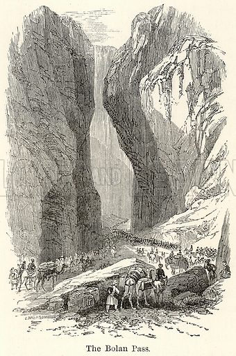 The Bolan Pass. Illustration for The World As It Is by George Chisholm (Blackie, 1885).