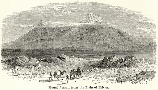 Mount Ararat, from the Plain of Erivan. Illustration for The World As It Is by George Chisholm (Blackie, 1885).