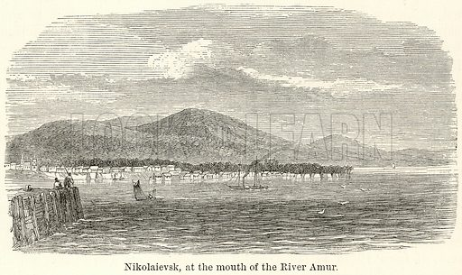 Nikolaievsk, at the Mouth of the River Amur. Illustration for The World As It Is by George Chisholm (Blackie, 1885).