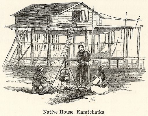 Native House, Kamtchatka. Illustration for The World As It Is by George Chisholm (Blackie, 1885).