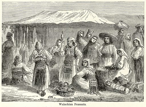 Walachian Peasants. Illustration for The World As It Is by George Chisholm (Blackie, 1885).