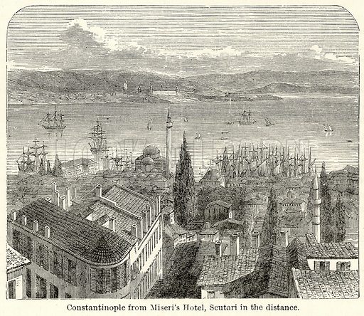 Constantinople from Miseri's Hotel, Scutari in the Distance. Illustration for The World As It Is by George Chisholm (Blackie, 1885).
