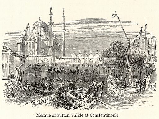 Mosque of Sultan Valide at Constantinople. Illustration for The World As It Is by George Chisholm (Blackie, 1885).