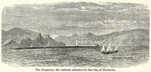 The Bosporus, the Eastern Entrance to the Sea of Marmora. Illustration for The World As It Is by George Chisholm (Blackie, 1885).