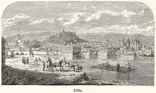 Tiflis. Illustration for The World As It Is by George Chisholm (Blackie, 1885).