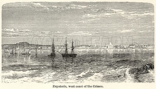 Eupatoria, West Coast of the Crimea. Illustration for The World As It Is by George Chisholm (Blackie, 1885).