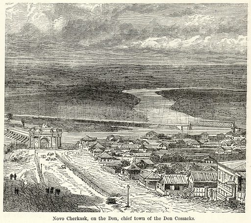 Novo Cherkask, on the Don, Chief Town of the Don Cossacks. Illustration for The World As It Is by George Chisholm (Blackie, 1885).
