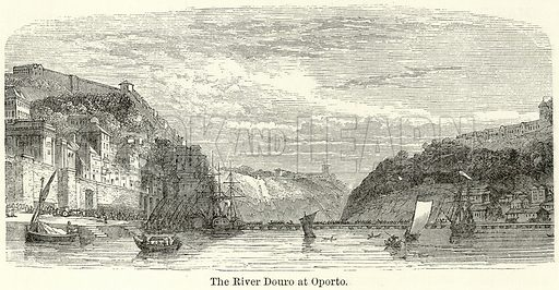 The River Douro at Oporto. Illustration for The World As It Is by George Chisholm (Blackie, 1885).