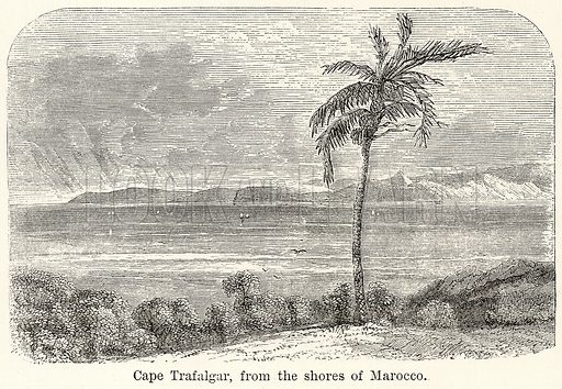 Cape Trafalgar, from the Shores of Marocco. Illustration for The World As It Is by George Chisholm (Blackie, 1885).