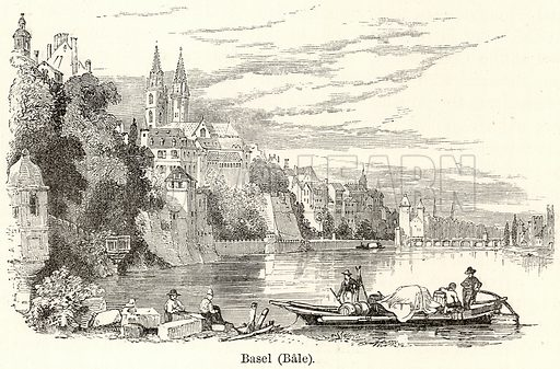 Basel (Bale). Illustration for The World As It Is by George Chisholm (Blackie, 1885).