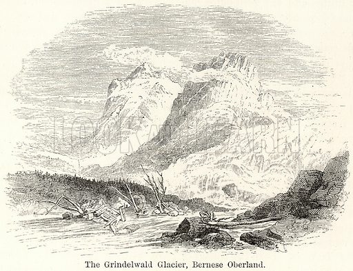 The Grindelwald Glacier, Bernese Oberland. Illustration for The World As It Is by George Chisholm (Blackie, 1885).