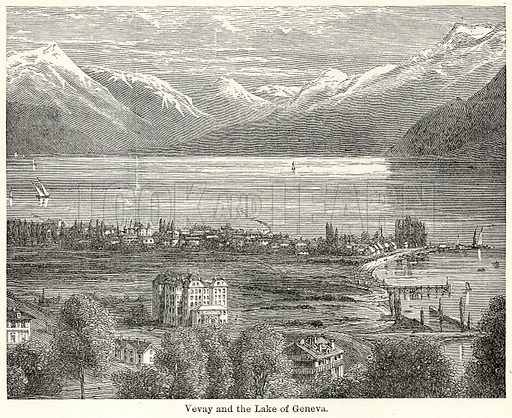 Vevay and the Lake of Geneva. Illustration for The World As It Is by George Chisholm (Blackie, 1885).