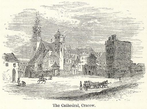 The Cathedral, Cracow. Illustration for The World As It Is by George Chisholm (Blackie, 1885).