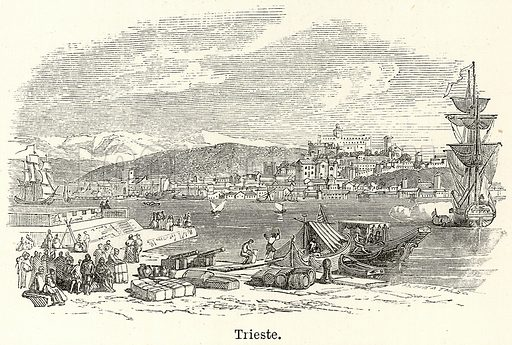 Trieste. Illustration for The World As It Is by George Chisholm (Blackie, 1885).