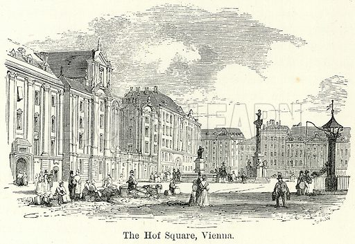 The Hof Square, Vienna. Illustration for The World As It Is by George Chisholm (Blackie, 1885).