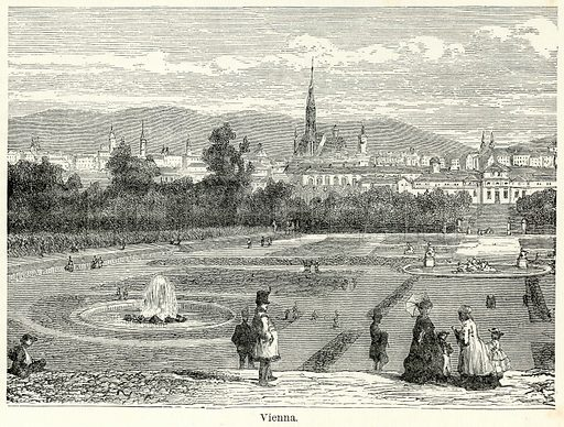 Vienna. Illustration for The World As It Is by George Chisholm (Blackie, 1885).