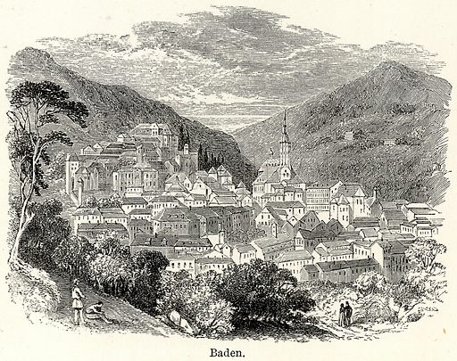 Baden. Illustration for The World As It Is by George Chisholm (Blackie, 1885).