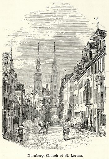 Nurnberg, Church of St. Lorenz. Illustration for The World As It Is by George Chisholm (Blackie, 1885).
