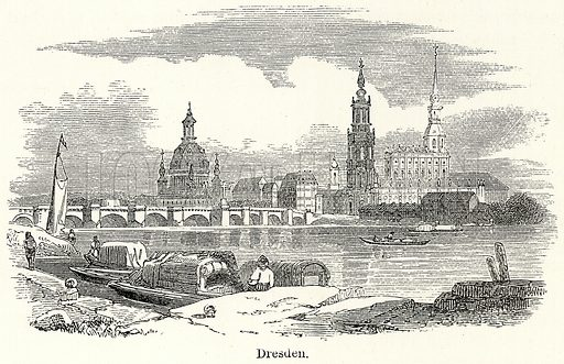 Dresden. Illustration for The World As It Is by George Chisholm (Blackie, 1885).