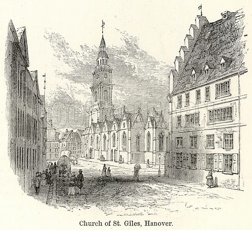 Church of St. Giles, Hanover. Illustration for The World As It Is by George Chisholm (Blackie, 1885).