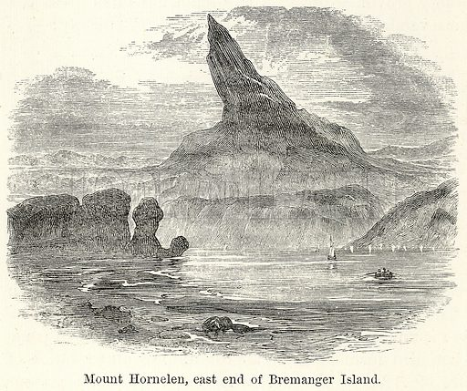 Mount Hornelen, East End of Bremanger Island. Illustration for The World As It Is by George Chisholm (Blackie, 1885).