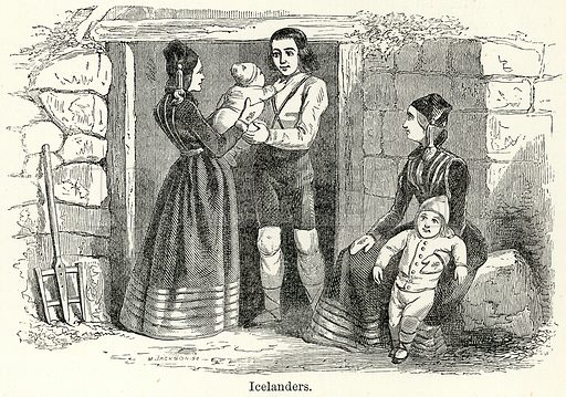 Icelanders. Illustration for The World As It Is by George Chisholm (Blackie, 1885).