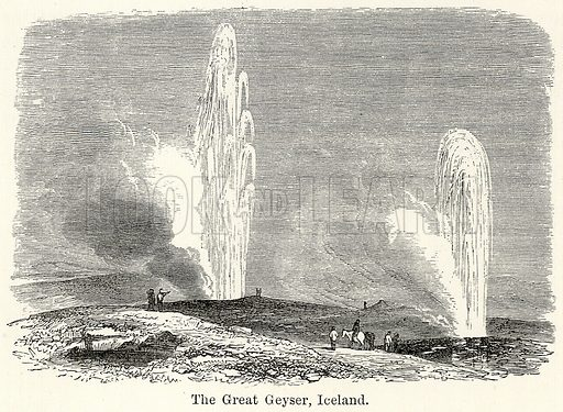 The Great Geyser, Iceland. Illustration for The World As It Is by George Chisholm (Blackie, 1885).