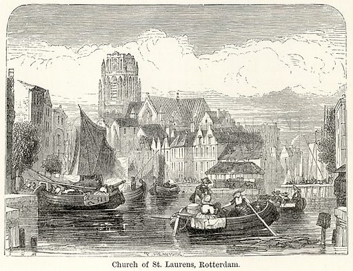 Church of St Laurens, Rotterdam. Illustration for The World As It Is by George Chisholm (Blackie, 1885).