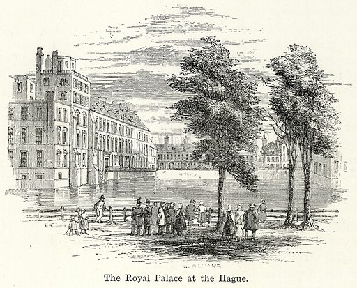 The Royal Palace at the Hague. Illustration for The World As It Is by George Chisholm (Blackie, 1885).