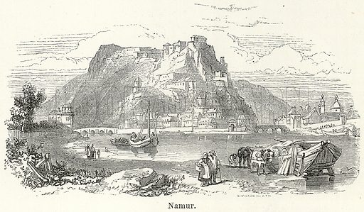 Namur. Illustration for The World As It Is by George Chisholm (Blackie, 1885).