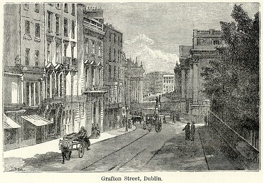 Grafton Street, Dublin. Illustration for The World As It Is by George Chisholm (Blackie, 1885).