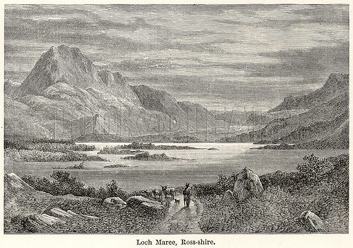 Loch Maree, Ross-Shire. Illustration for The World As It Is by George Chisholm (Blackie, 1885).