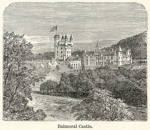 Balmoral Castle. Illustration for The World As It Is by George Chisholm (Blackie, 1885).