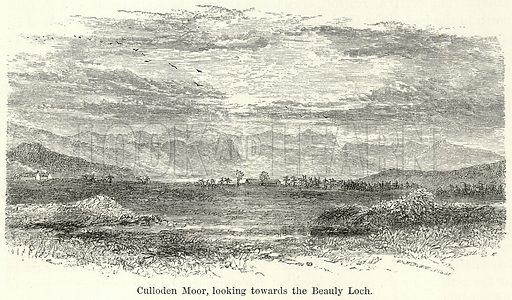 Culloden Moor, looking towards the Beauly Loch. Illustration for The World As It Is by George Chisholm (Blackie, 1885).