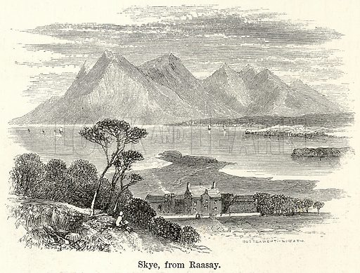 Skye, from Raasay. Illustration for The World As It Is by George Chisholm (Blackie, 1885).